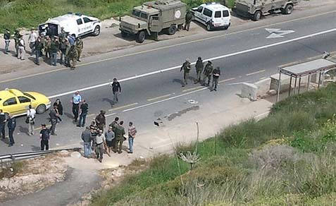 The scene of the drive by shooting outside Kdumim.