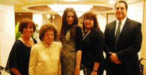 (L-R) Fran Hirmes, Emunah national president; Adina Stern; Sara Shulevitz; Leah Klein; and Joshua Dobin.