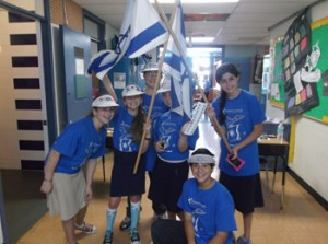 Hebrew Academy middle school students celebrate Yom Ha'Atzmaut.