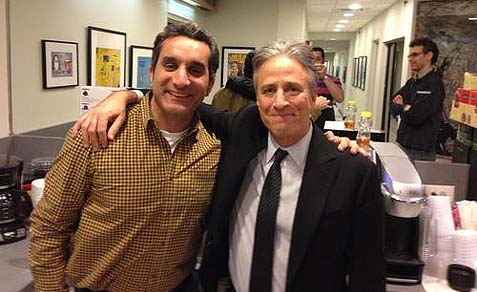 Jon Stewart and Bassam Youssef.
