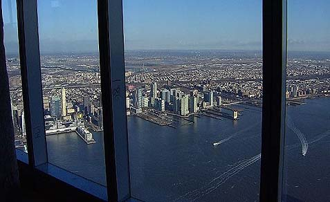 The view from One World Observatory.