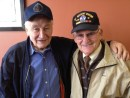 Joseph Rosenfeld, the survivor, (on the left) with Alan Moskin, the Jewish War Veteran.