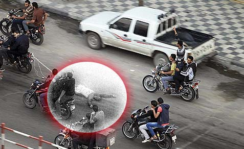 dragged behind a motorcycle through Gaza