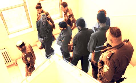 The captured cell in Jerusalem District Court.