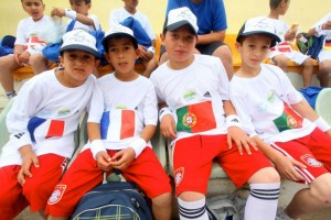Israeli and Palestinian children meet for a soccer tournament in Kiryat Gat.