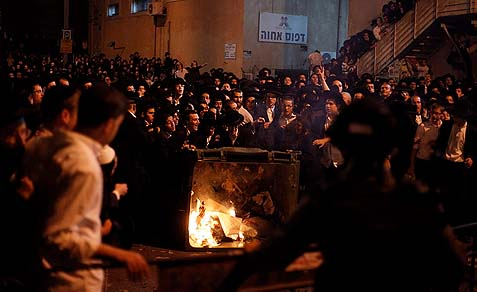 Haredim protest the draft, May 16, 2013.