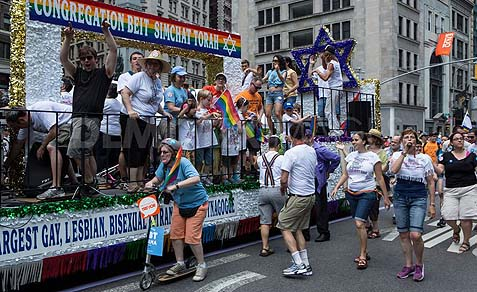 Congregation Beth Simchat Torah is among the LGBT groups participating in the Israel Day Parade in NY City Sunday.