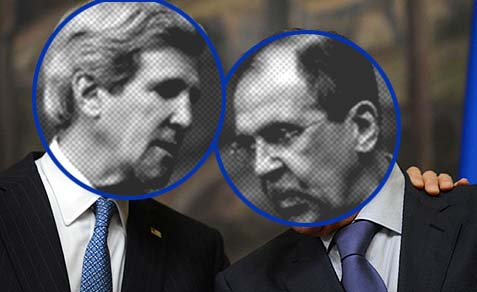 U.S. Secretary of State John Kerry and Russian Foreign Minister Sergey Lavrov