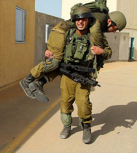 Carrying a Wounded Friend