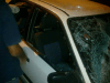 Car smashed in Arab mob attack in the Jerusalem A-Tor neighborhood in 2013. (Archive photo)