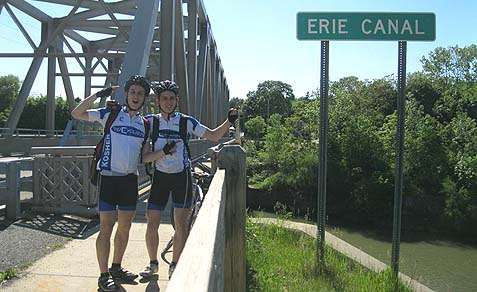 Their high point was crossing the Erie Canal bridge, a marker that proved to them that they were going in the right direction.