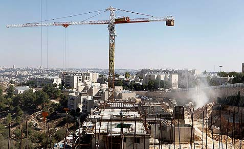 300 housing units in Gilo (in the picture above) and Ramot, two neighborhoods in annexed East Jerusalem, are the current hurdle before the peace process.