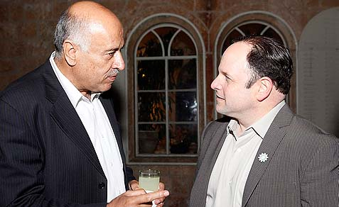 Jibril Rajoub with sitcom star and peace activist Jason Alexander. In dealing with Rajoub, the George Costanza approach is recommended: anything you want to say or do – say or do the opposite.