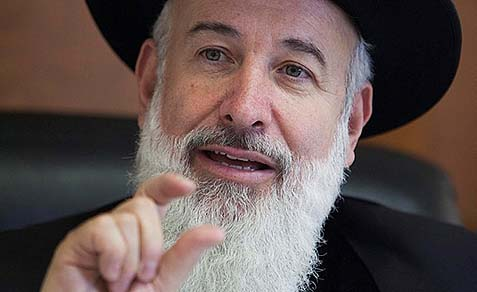 Ashkenazi Chief Rabbi of Israel Yona Metzger.