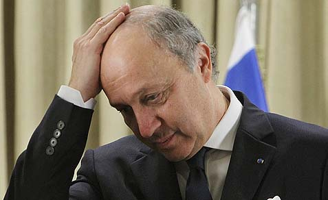 French Foreign Minister Laurent Fabius is ready to bomb Syrian chemical weapons.