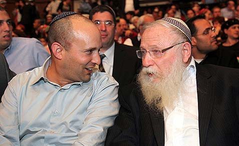 Rabbi Chaim Druckman with a friend.