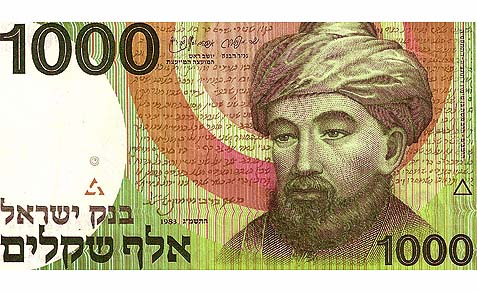 IsraelBanknote-Maimonides