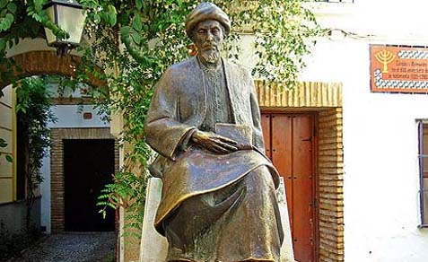 A statue of Maimonides.