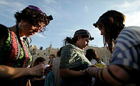 Women of the Wall at the Kotel on May 10, 2013, the first day of the Hebrew month of Sivan.