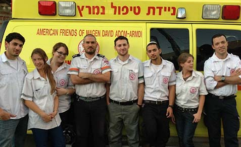 Paramedics-in-training from Ben-Gurion University.