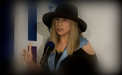 "'Dr."" Barbra Streisand speaks about women in her speech at Hebrew University Monday"