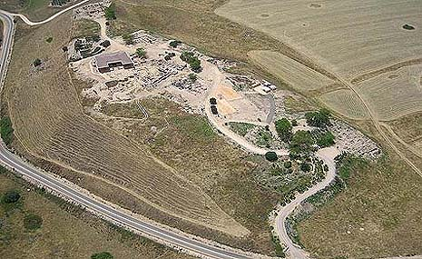 A bird's eye's view of the Tel Hazor excavations.