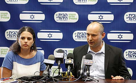 Jewish Home Minister Naftali Bennett and MK Ayelet Shaked demand a national referendum as a precondition for passing this year's budget.