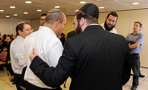 They took his lunch money. Jewish Home Minister of Religious Services Naftali Bennett lost the vote on both chief rabbis to the Haredim.