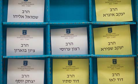 Voting notes for the Chief Rabbinate elections in Jerusalem on July 23, 2013. in Jerusalem.