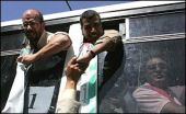 Palestinian Authority Arabs who were freed from Israeli jails.
