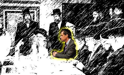 Anthony Weiner met with the Rebbe of Munkacs, Rabbi Moshe Leib Rabinovich.