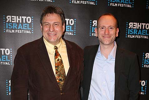 "Manhattan Jewish Community Center's film program director Isaac Zablocki (R., seen with Richard Pena) wrote: ""Importance of the use of boycott [of Israel]...is unquestionable."""