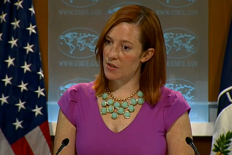 Jen Psaki, US State Dept. Spokesperson fields question during daily briefing, Aug. 22, 2013