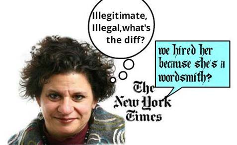 "NYT Jerusalem correspondent Jodi Rudoren wrote that the US believes the ""settlements"" are illegal. That has never been the US position.  The NYT had to issue a correction."