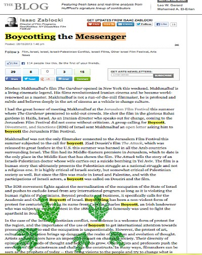 screen capture of original published version of Zablocki article in Huffington Post, before key words were deleted
