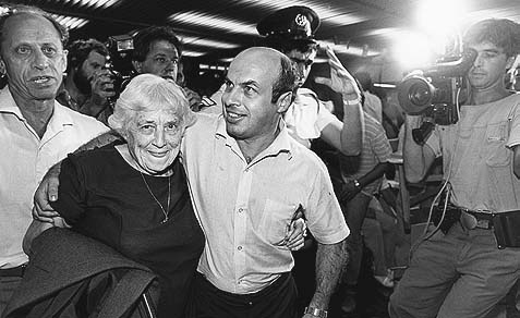 Natan Sharansky has always been one of my heroes. Here he is pictured with his mother after his release from prison in the Soviet Union. He landed in Israel on February 11, 1986.