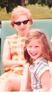 The author, at age four, with her mother. Photo credit: Varda Meyers Epstein.