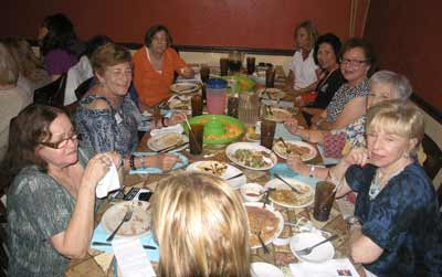 Members of Hadassah's South Florida Mitzvah Chapter enjoy a meet and greet.