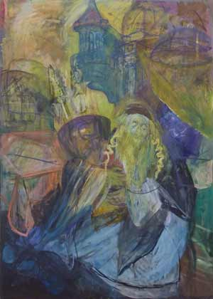 Jew with Torah (#7) (1990's), oil on canvas by Hyman Bloom. Courtesy White Box and Estate of Hyman Bloom.