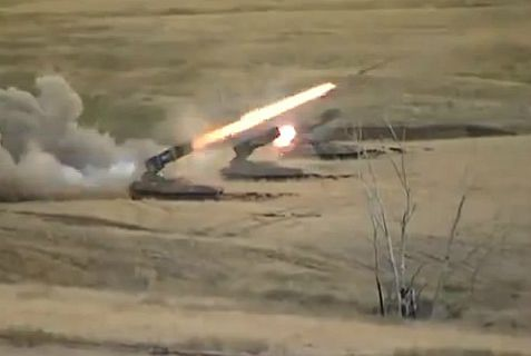 Russia has supplied Syria with an advanced 24-barrel multiple rocket launcher