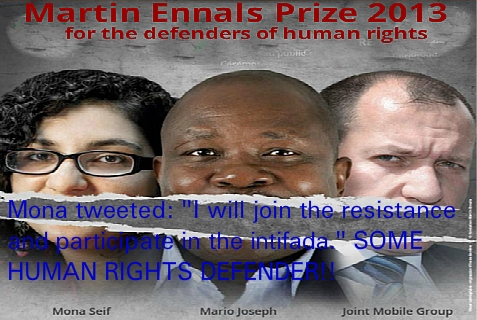 "Mona Seif, left, is one of the finalists for the Martin Ennals Human Rights Defenders Award, known as the ""Nobel Prize for Human Rights."""