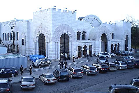 The New Square Synagogue.