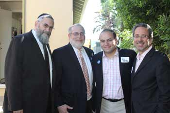 (L-R) Etta Israel board member Dr. Irving Lebovics; Etta Israel Executive Director Dr. Michael Held; and California State Assembly members Adrin Nazarian and Richard Bloom.