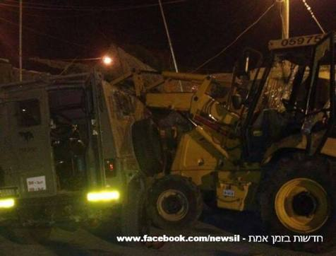 An Arab terrorist rammed his tractor onto an IDF army base.