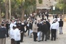 Jews from across Israel gathered outside the Cave of the Patriarchs over Shabbat.