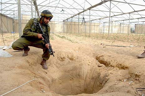 Underground tunnel found near the Egyptian border. Archive photo.