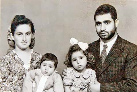 The young Yosef family in Egypt: Rav Ovadia, Adina, Yaakov and the mother, Margalit. Haredi women don't dress like this these days…