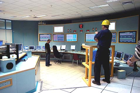 Ashkelon power plant workers at the control room.