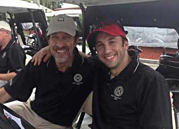 Dr. Robert Galbut (left) with son, Dr. Brian Galbut, Golf Tournament chair.