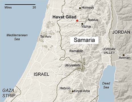 Havat Gilad map